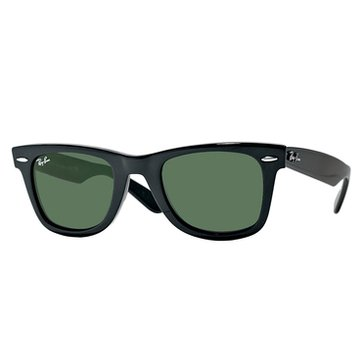 Ray-Ban Unisex Original Wayfarer Polarized Sunglasses RB2140, Black/ Green Classic G-15 50mm