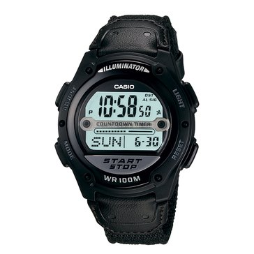 Casio Men's Sport Digital Illuminator Watch W756-1AV, Black/ Silver 40.6mm