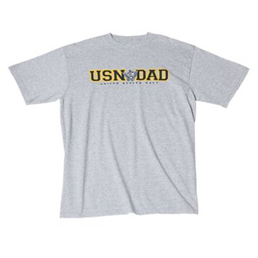 Gear for Sports Men's USN Dad Eagle and Anchor Tee