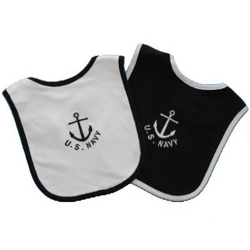 Trooper USN 2 Pack Embroidered Anchor Bibs