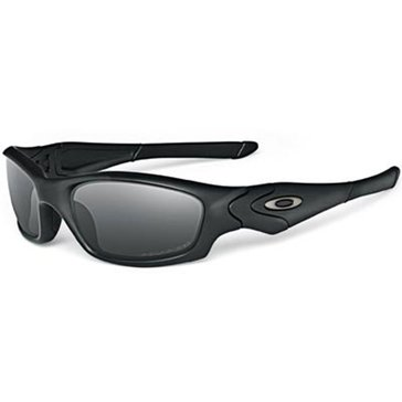 Oakley Standard Issue Straight Jacket Matte Black Gray Polarized Sunglasses