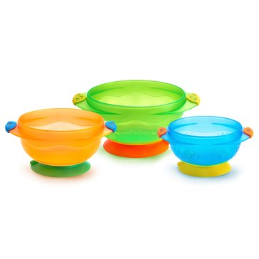 Munchkin Stay Put Suction Bowls, 3-Pack