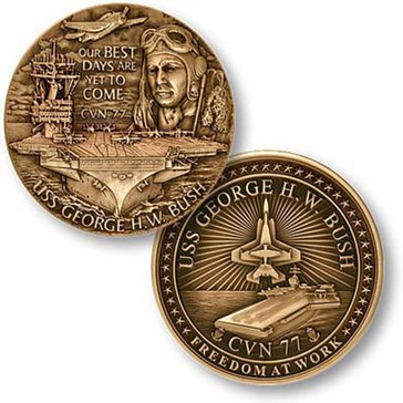USN USS George H.W. Bush Coin