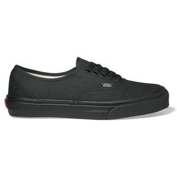 Vans Authentic Unisex Skate Shoe Black/ Black