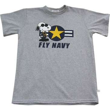 Third Street Sportswear Youth USN Fly Navy Snoopy Tee