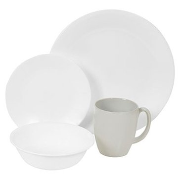 Corelle Winter Frost White 16-Piece Dinnerware Set