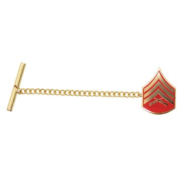 USMC Tie Tac Gold/Red SGT