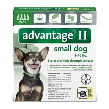 Advantage Flea and Tick Treatment for Dogs 3-10 lbs., 4 Treatments
