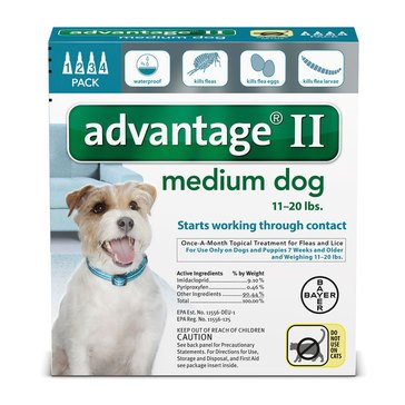Advantage Flea and Tick Treatment for Dogs 11-20 lbs., 4 Treatments