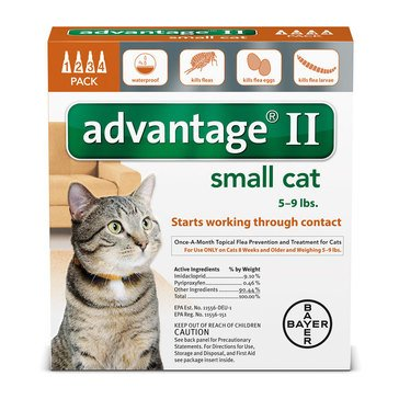 Advantage Flea and Tick Treatment for Cats Under 9 lbs., 4 Treatments