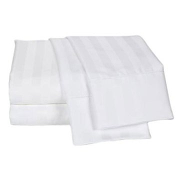 Charter Club Damask Stripe 500 Thread-Count Sheet Set, White - King