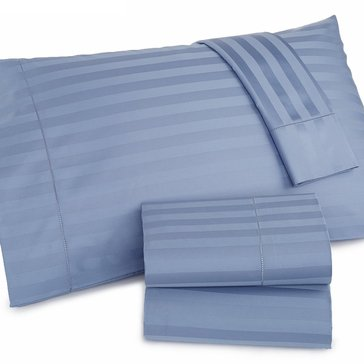 Charter Club Damask Stripe 500 Thread-Count Sheet Set, Lake - Queen