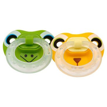 NUK Animal Faces Silicone Pacifier, 2-Pack
