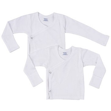 Gerber Newborn 2-Pack Side Snap Shirts w/ Mitten Cuff