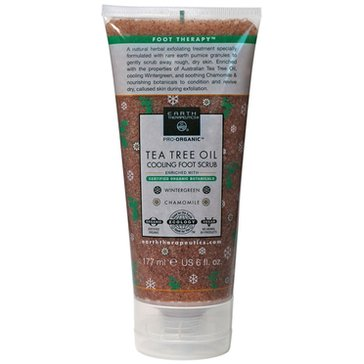 Earth Therapeutics Tea Tree Oil Cooling Foot Scrub 6oz