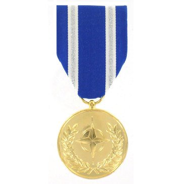 Medal Large Anodized NATO Non Article 5 (Afghanistan)