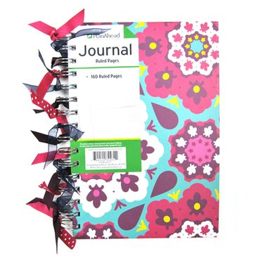 Plan Ahead Ribbon Journal, 160 pages