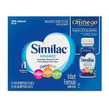 Similac Advance Ready to Feed Formula, 8oz (6-Pack)