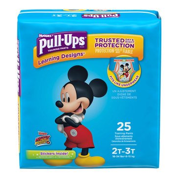 Pull Ups - Boys' Size 2T-3T, Jumbo Pack 25-Count