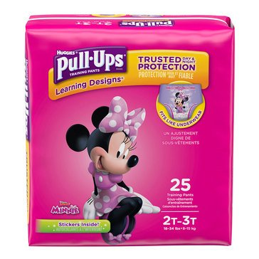 Pull Ups - Girls' Size 2T-3T, Jumbo Pack 25-Count