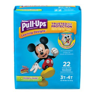 Pull Ups - Boys' Size 3T-4T, Jumbo Pack 22-Count