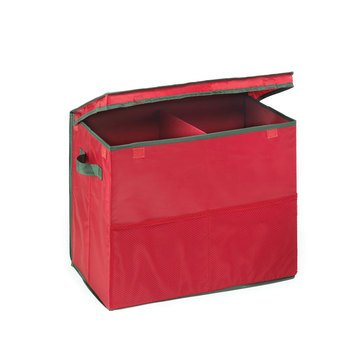 Gift Bag Storage Tote, Original Holiday Red