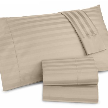 Charter Club Damask Stripe 500 Thread-Count Sheet Set, Taupe - Queen
