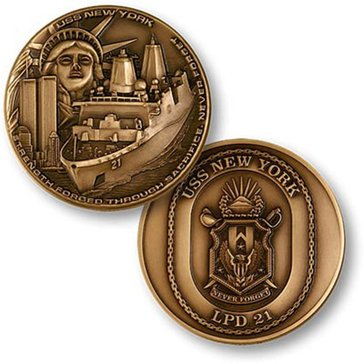 USN USS New York Lpd 21 Coin
