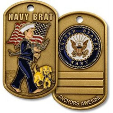 USN Navy Brat Dog Tag