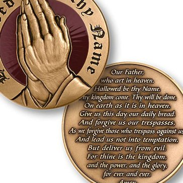 USN Lords Prayer Coin