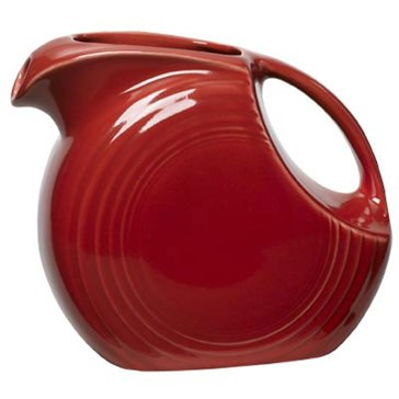 Fiesta Large Disk Pitcher, Scarlet
