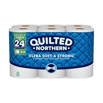 Quilted Northern Ultra Soft & Strong Bath Tissue, 12 Double Rolls