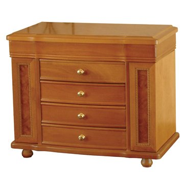Mele & Co. Josephine Wooden Jewelry Box in Oak Finish