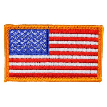 Eagle Crest USN American Flag with Velcro Gold Patch