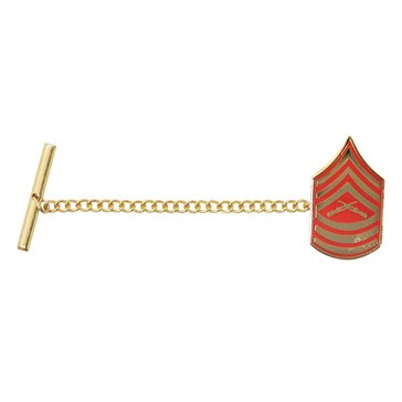 USMC Tie Tac Gold/Red MSGT