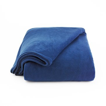 Berkshire Fleece Blanket, Navy - Full/Queen