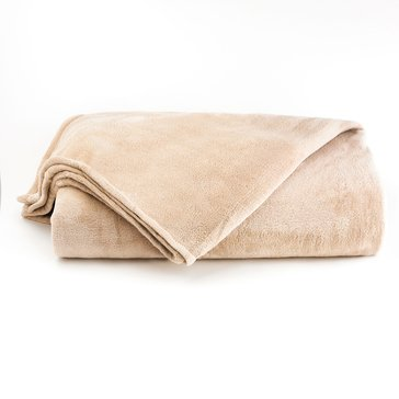 Berkshire Plush Blanket, Oyster - Full/Queen