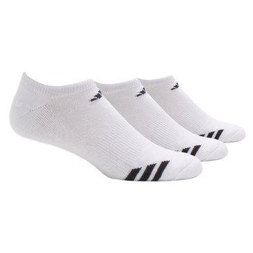 Adidas Climalite Cushion 3PK No Show Socks - White