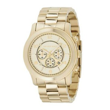 Michael Kors Men's Chronograph Runway Gold-Tone Stainless Steel Bracelet Watch 44mm