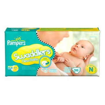 Pampers Swaddlers Jumbo-Pack 31-Count Diapers, Size Newborn