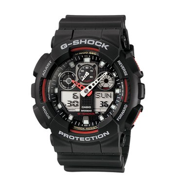 Casio G-Shock Men's Military Series Watch GA100-1A4, Black 55mm