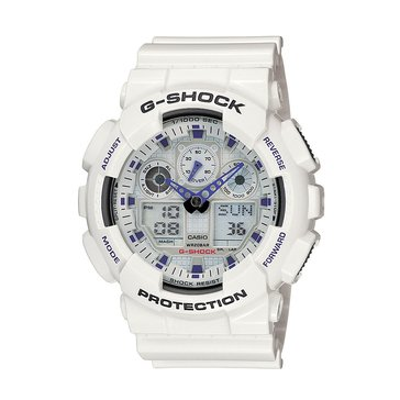 Casio Men's G-Shock XL White and Blue Watch