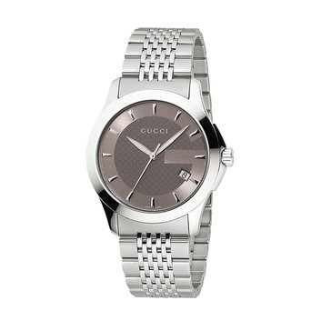 Gucci Men's G-Timeless Medium Stainless-Steel Watch, 38mm