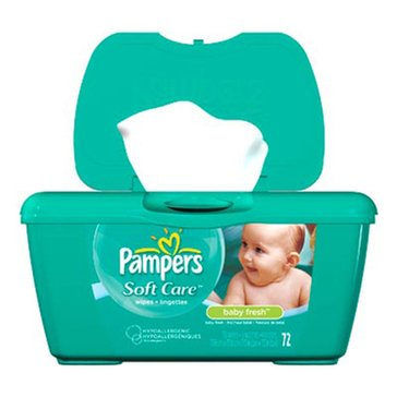 Pampers Baby Fresh Scented Baby Wipes, 72-Count Tub