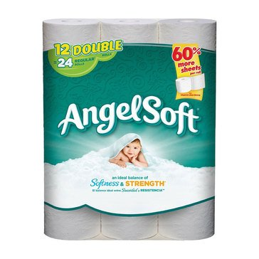 Angel Soft Bath Tissue,12 Double Rolls, 264 Sheets
