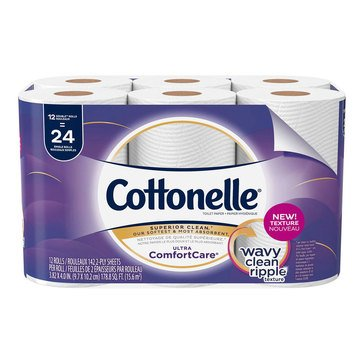 Cottonelle Bath Tissue Ultra Comfort Care, 12 Double Rolls