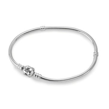 PANDORA Iconic Silver Charm Bracelet - Size 6.7in