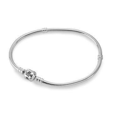 PANDORA Iconic Silver Charm Bracelet - Size 7.1in