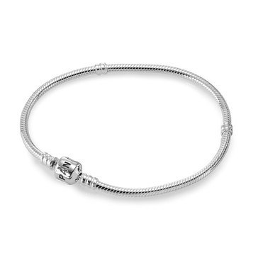 PANDORA Iconic Silver Charm Bracelet - Size 8.3in