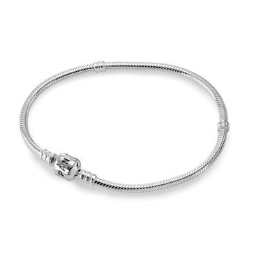 PANDORA Iconic Silver Charm Bracelet - Size 9.1in